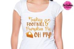 Turkey, Football, & Pumpkin Pie - SVG, DXF, EPS Cut Files Product Image 2