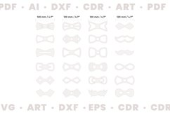Wood bow tie svg for man and woman, Dxf files for Cnc files Product Image 3