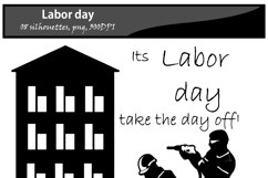 Labor day silhouette / printable labor day silhouette / vector graphics labor day / DIY cut / craft work / building / computer silhouette Product Image 4