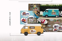 VanLife Graphic. 9 color illustration in doodle style Product Image 7