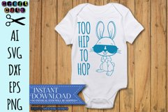 Too Hip To Hop Easter Bunny AI, SVG, DXF, EPS, and PNG Product Image 3