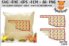 Oklahoma Autumn Fall Leaves Pattern SVG Product Image 1