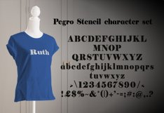 Pegro Stencil Font Product Image 3