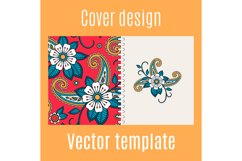Cover design with floral indian pattern Product Image 1