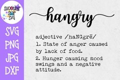 Hangry Definition SVG - Funny Definition SVG Product Image 1