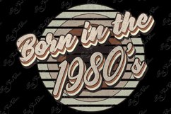 Retro born in the 1980s sublimation png, 1980s T-shirt desig Product Image 3