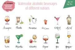 Watercolor alcohol vector set Product Image 2
