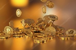 6  files - 3D rendering Bitcoins falling on a pile Product Image 5