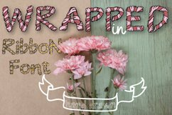 Wrapped in ribbon sketch font Product Image 1