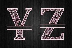 3D Layered Split Alphabet A to Z - SVG Product Image 6