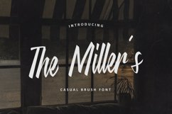 The Miller's - Casual Brush Font Product Image 1