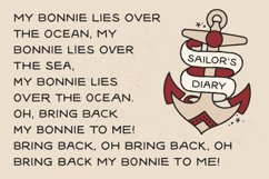 Sailors Diary Sans Tattoo Style Font Product Image 2