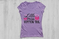 Little Miss Cotton Tail Svg, Easter Svg, Easter Bunny Svg. Product Image 2
