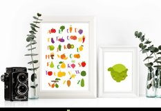 Kids alphabet. fruit and vegetable PNG. Baby vegetables. Product Image 2