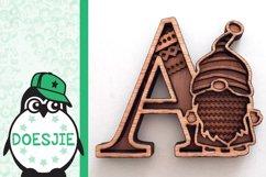 Gnome letters 3D multi layer mandala layered alphabet bundle Product Image 4
