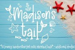 Madison's tail - A mermaid font plus nautical doodles Product Image 1
