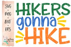 Hikers Gonna Hike SVG - Outdoor Backpacking SVG Product Image 2