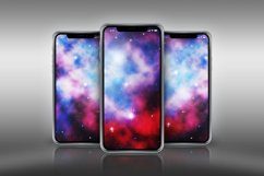 psd mockup of three iPhone 11 Pro on a metallic surface Product Image 2