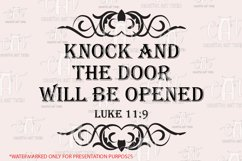 Knock and the door will be opened SVG - Religious quotes SVG Product Image 2
