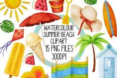 Watercolor Summer Beach Clip Art Set 1 Product Image 1