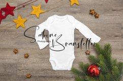 Styled Stock Photo White Preemie Bodysuit Christmas Mockup Product Image 1