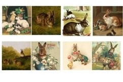 Easter Bunny and Rabbit Vintage Illustrations 2 PDF Product Image 6