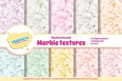 Digital Paper Pack - multicolored Marble textures Product Image 1