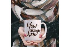 Winter mug mock-up bundle - 8 jpeg mockups Product Image 6