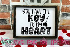 Key to my Heart - A Valentine SVG Product Image 1