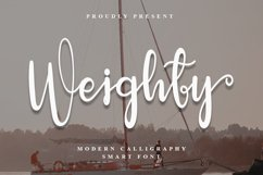 Weighty - Beautiful Calligraphy Font Product Image 1