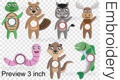 Hi Animals Monogram - Embroidery Files - 1481e Product Image 2