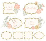 Glitter Floral Peach chic collection. 50% off Product Image 5