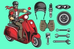 Scooter Rider Vector Pack Product Image 1