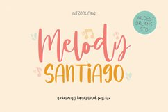 Melody Santiago Font Trio Product Image 1