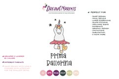 Prima Ballerina  Dancing Unicorn SVG Cut Files   Ballet Product Image 2