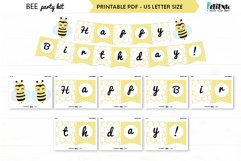 Bee themed party kit, kids party decor, bee first birthday Product Image 3