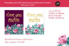 """Premade card """"love you, mom"""" for mothers day. JPG Product Image 2"""