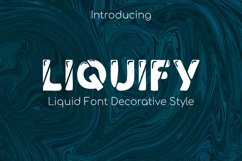 Liquify Font Liquid Product Image 1