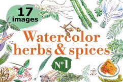 Watercolor spices vector set-1 Product Image 1