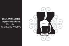 Beer, monogram letter K Product Image 1
