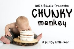 Chunky Monkey - A pudgy little font Product Image 1