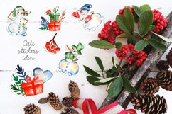 Watercolor snowman clipart, Cute Christmas diy Winter Product Image 3