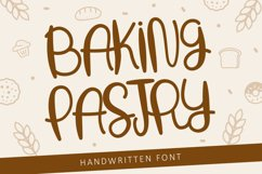 Baking Pastry - Handwritten Font Product Image 1