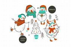 Snowman Christmas Graphic Pack. Product Image 3
