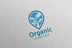 Pin Locator Natural and Organic Logo design template 6 Product Image 3