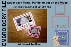 I Love Nana Picture Frames - 4 x 4 and 5 x 7 Hoops Product Image 1