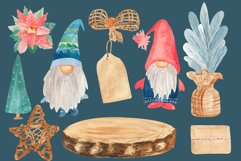 Christmas tree gnome, Holiday clip art Product Image 2