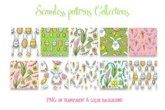 Hand drawn Easter seamless patterns png and clip art set Product Image 4