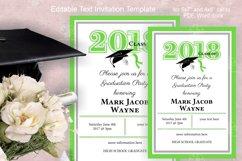 Invitation Template editable text - GREEN - Graduation 2021 Product Image 6