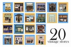 The Downtown vintage stores clip art Product Image 3